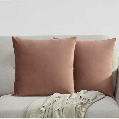 Higginsville Velvet Throw Pillow - Set of 2 - Wayfair