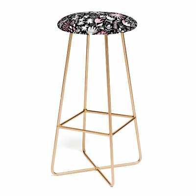 "Ninola Design Winter Ink Flowers 25"" Bar Stool - Wayfair"