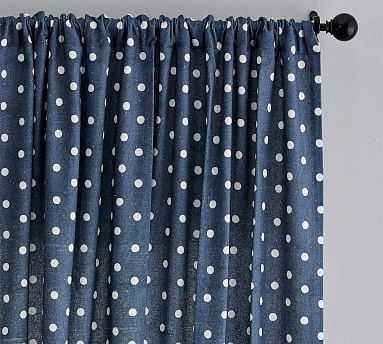 """Caci Dot Drape, Blue Multi, 84 x 50"""" - Pottery Barn"""
