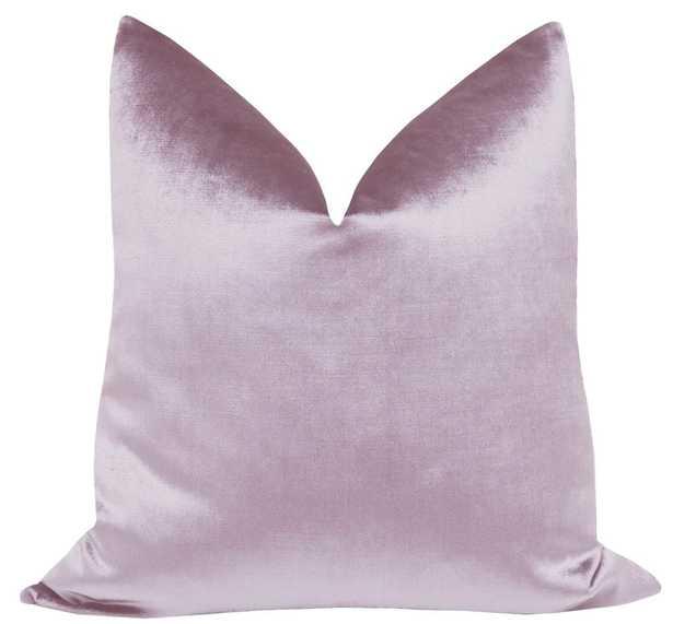 "Faux Silk Velvet // Lavender - 20"" X 20"" - Little Design Company"