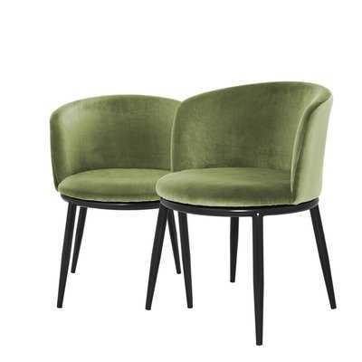 Filmore Upholstered Dining Chair, Set of 2 - Wayfair