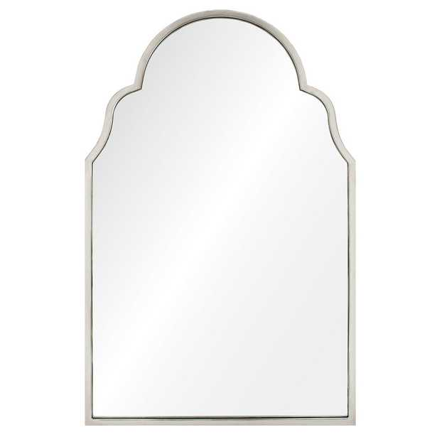 Tangier Global Bazaar Antique Silver Leaf Arch Mirror - Kathy Kuo Home