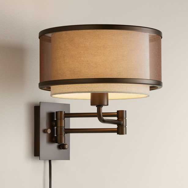 Vista Oil-Rubbed Bronze Plug-In Swing Arm Wall Lamp - Style # 55H52 - Lamps Plus
