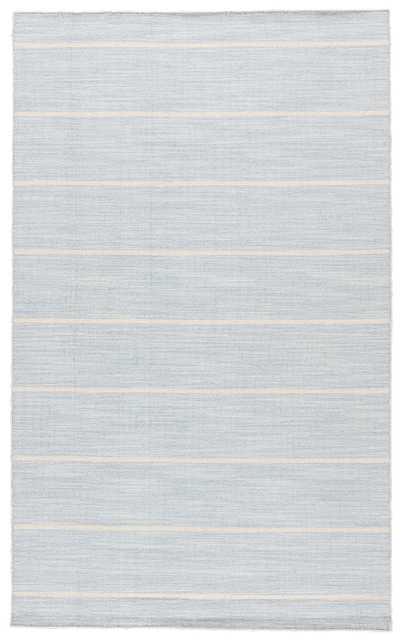 Cape Cod Handmade Stripe Blue/ White Area Rug (10' X 14) - Collective Weavers