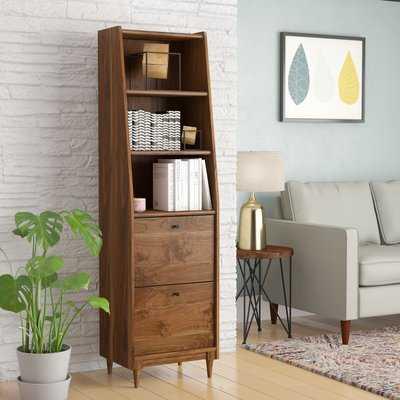 Posner Narrow Standard Bookcase - Wayfair