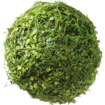 Decorative Moss and Leaves Ball - Birch Lane