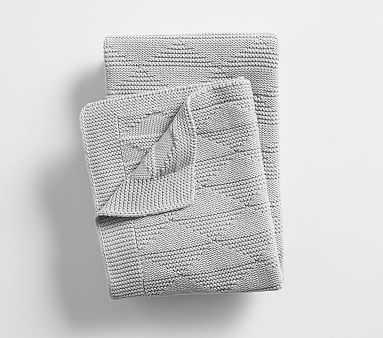 Triangle Knit Baby Blanket, Gray - Pottery Barn Kids