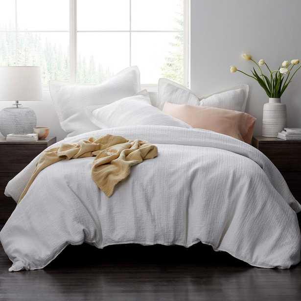 Interwoven Cotton White Full Duvet Cover - Home Depot