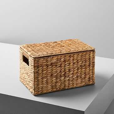Twist Weave Baskets, Small Rectangle, Natural - West Elm