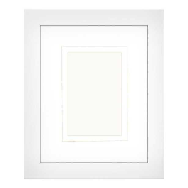 1-Opening 4 in. x 6 in. or 5 in. x 7 in. Matted White Picture Frame (Set of 2) - Home Depot