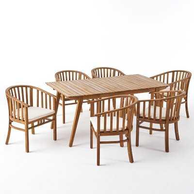 Reichert Outdoor 7 Piece Dining Set with Cushions - Wayfair