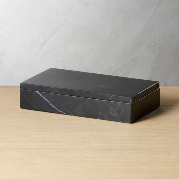 Large Black Marble Box - CB2