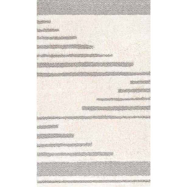 Moroccan Abstract Diamonds Berta Ivory 7 ft. 6 in. x 9 ft. 6 in. Area Rug - Home Depot