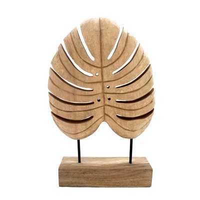 Holland Mango Wood Monstera Leaf Sculpture - Wayfair
