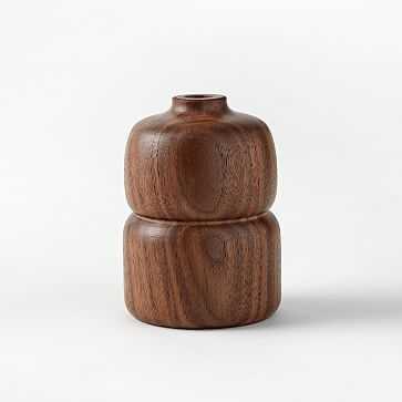 Melanie Abrantes Hardwood Bud Vase, Walnut - West Elm