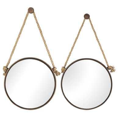 Brilliana Metal Mirror Set - Wayfair