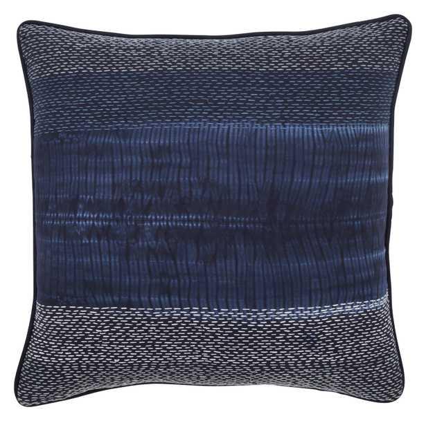 "Design (US) Navy 20""X20"" Pillow - Collective Weavers"
