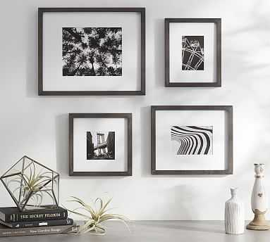 Wood Gallery Single Opening Frame, Set of 3 - Black (4 x 6, 5 x 7, 8 x 10) - Pottery Barn