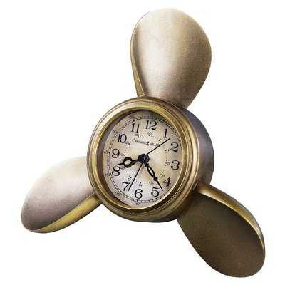 Propeller Arm Maritime Table Clock - Wayfair
