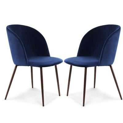 Aadhya Upholstered Dining Chair (Set of Two) - Wayfair