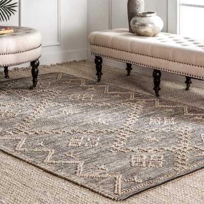 Rockwell Hand-Knotted Gray Area Rug - Wayfair