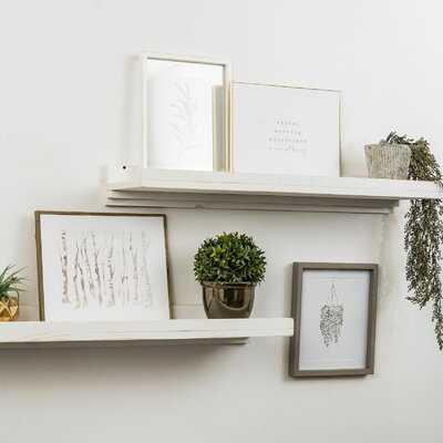 Tishie Floating Shelves - Set of 2 - White - Wayfair