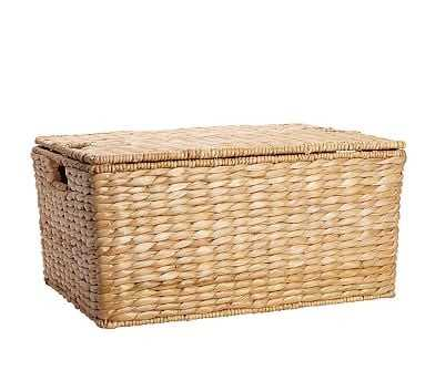 Savannah Lidded Basket, Large - Pottery Barn