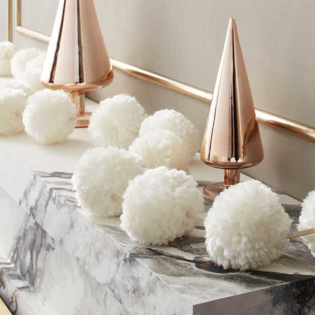 Puff White Pom Pom Garland - CB2