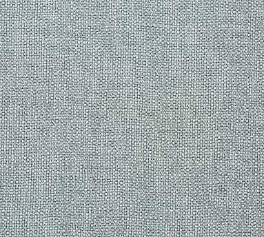 Fabric By the Yard - Performance Brushed Basketweave Washed Teal - Pottery Barn
