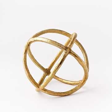 Sculpture Sphere, Gold, Large - West Elm