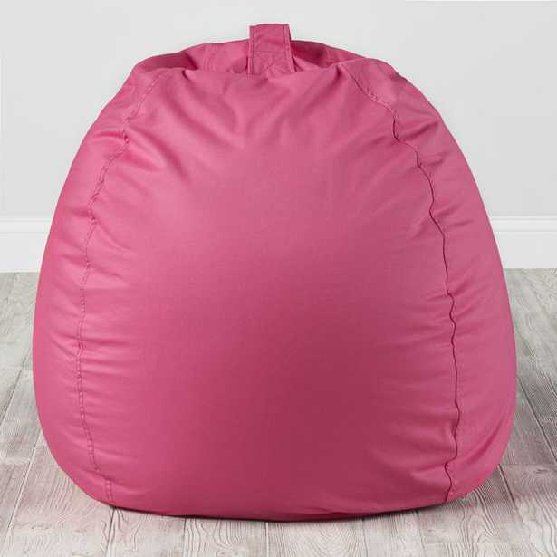 Large Dark Pink Bean Bag Chair - Crate and Barrel