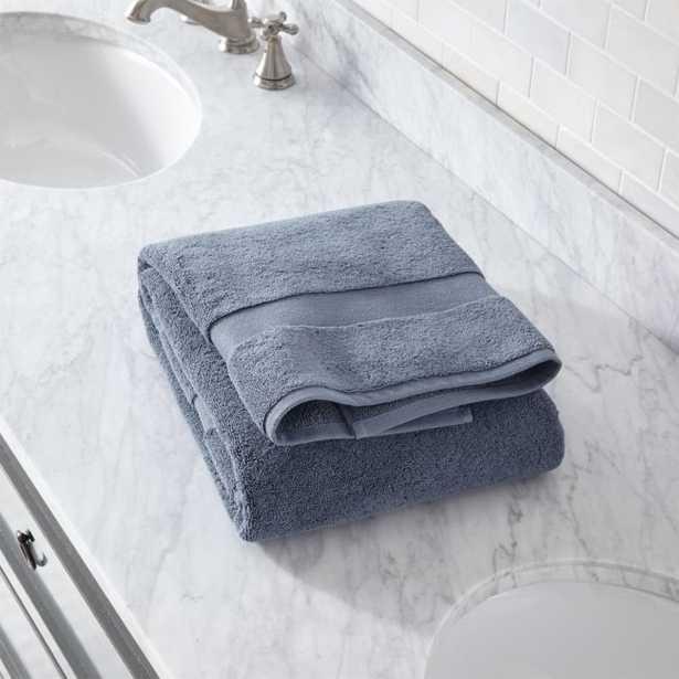 Organic 800-Gram Evening Blue Turkish Bath Towel - Crate and Barrel