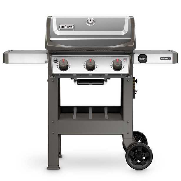 Weber Spirit II S-310 3-Burner Propane Gas Grill Stainless Steel (Silver) - Home Depot
