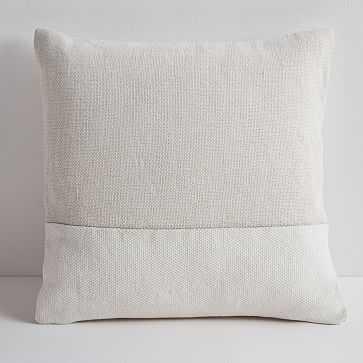 "Cotton Canvas Pillow Cover, Stone White, 18""x18"", Set of 2 - West Elm"