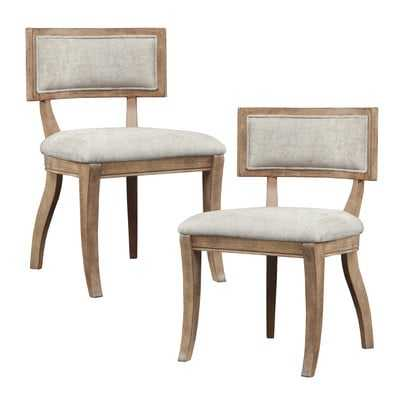 Marie Upholstered Dining Chair, Set of 2 - Wayfair