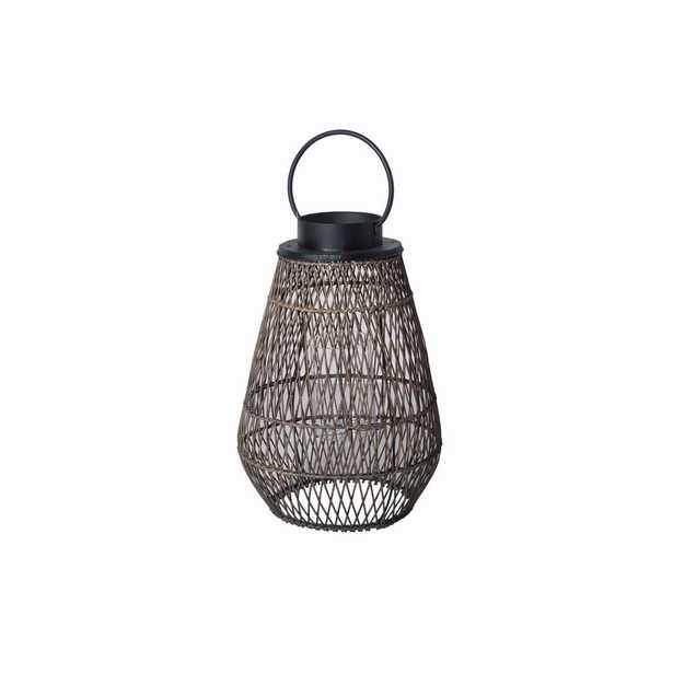 Hampton Bay Large Size Outdoor Bamboo Lantern - Home Depot
