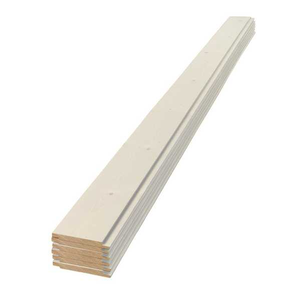 1 in. x 6 in. x 4 ft. Square Edge White Shiplap Pine Board (6-Pack), Wood - Home Depot