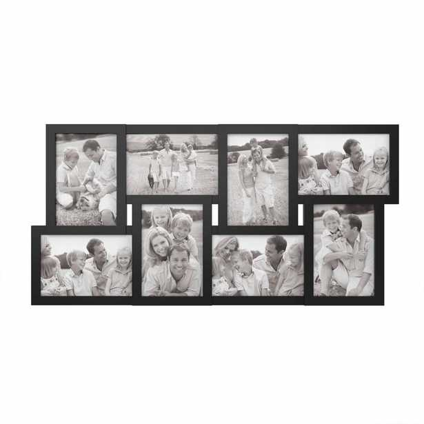 8-Opening 4 in. x 6 in. Black Picture Frame Collage, Black Matte - Home Depot