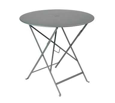 """Fermob Bistro 30"""" Round Table, Storm Gray - Pottery Barn"""