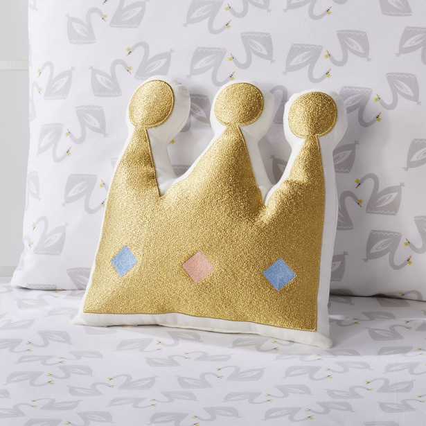 Crown Throw Pillow - Crate and Barrel