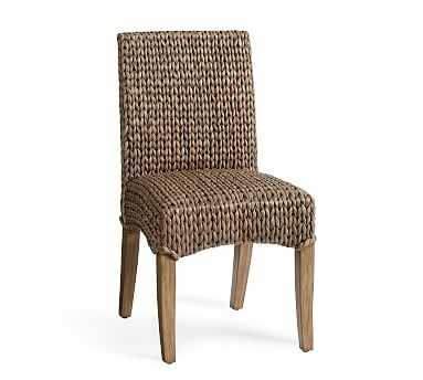 Seagrass Dining Side Chair, Gray Wash with Seadrift Leg - Pottery Barn