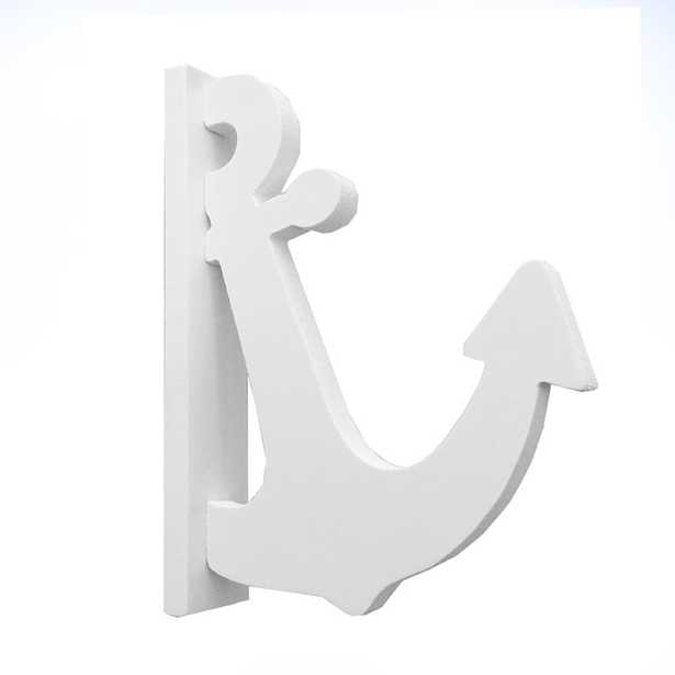 Nature Brackets 4 in. White PVC Decorative Indoor/Outdoor Anchor Hook - Home Depot
