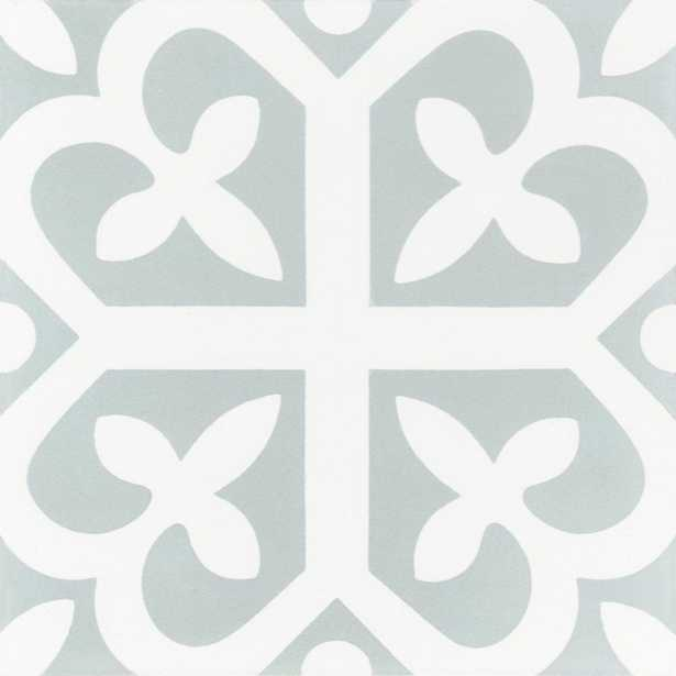 Vilavi Lucky 7-7/8 in. x 7-7/8 in. Cement Handmade Floor and Wall Tile, Pale Jade & White/Matte Finish - Home Depot