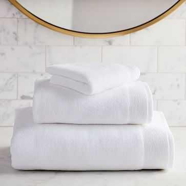 Organic Luxe Fibrosoft Towel, Set of 3, White - West Elm