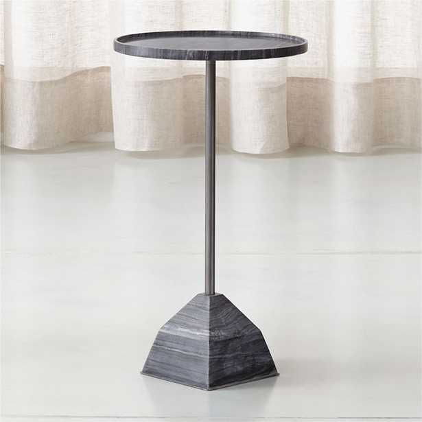 Prost Medium Marble Drink Table - Crate and Barrel