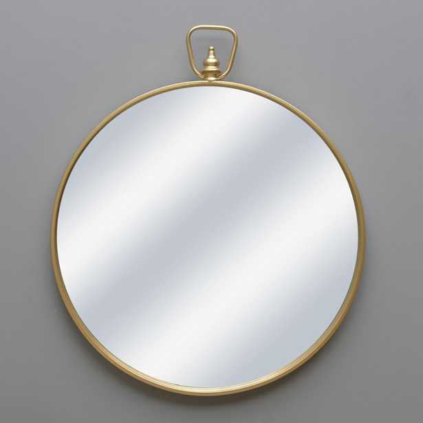 Gold Round Mirror with Handle - Home Depot
