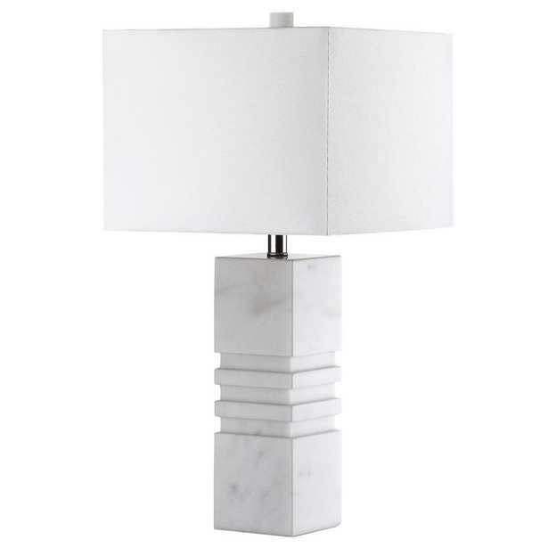 Safavieh Faye 27 in. White Marble Table Lamp - Home Depot