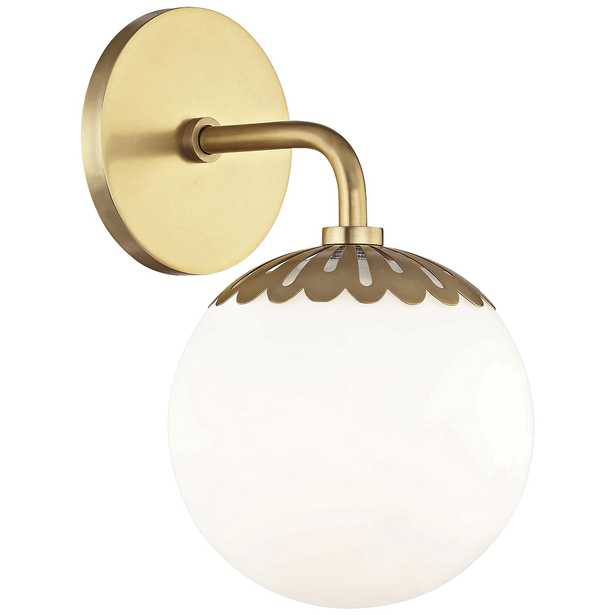 """Mitzi Paige 10 1/2"""" High Aged Brass Wall Sconce - Style # 46W57 - Lamps Plus"""