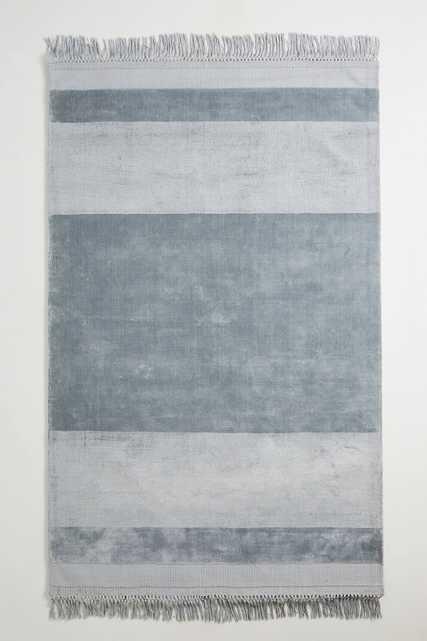 Handloomed Striped Viscose Rug - Anthropologie