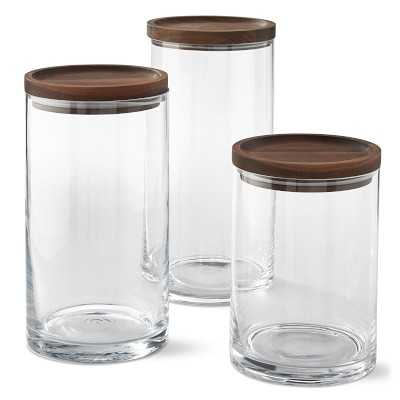 Walnut Canisters, Set of 3 - Williams Sonoma